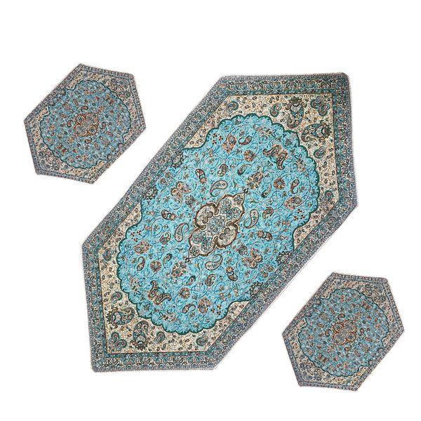 ست سه تکه رومیزی ترمه مدل شاه عباسی کد BU3-3