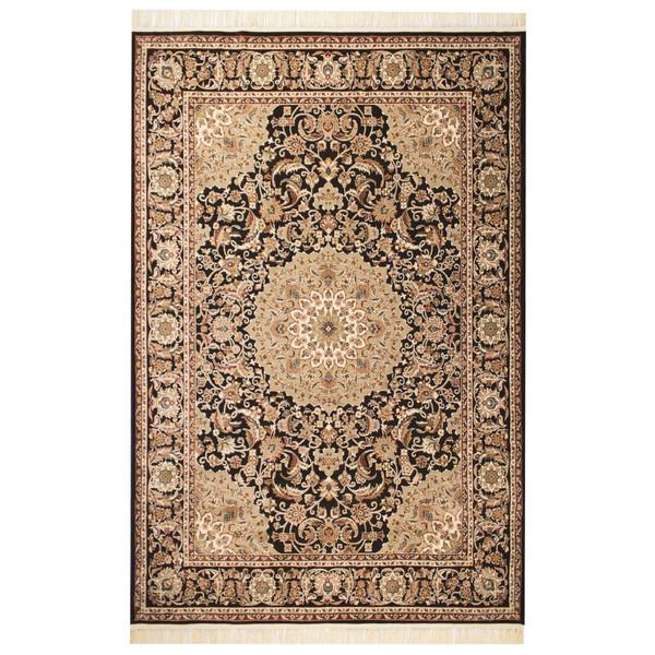 فرش ماشینی عرش طرح اصفهان زمینه فندقی