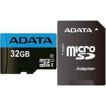 کارت حافظه microSDHC ای دیتا مدل Premier کلاس 10 استاندارد UHS-I U1 سرعت 85MBps همراه با آداپتور SD ظرفیت 32 گیگابایت