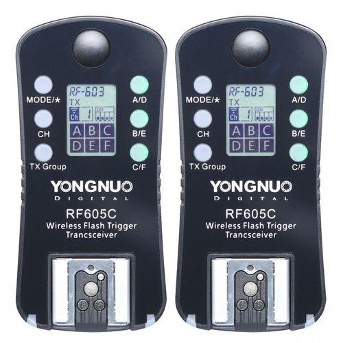تریگر فلاش وایرلس یونگنو مدل RF605C مناسب برای دوربین های کانن