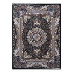 فرش ماشینی احتشامیه طرح فاخر زمینه سورمه ای
