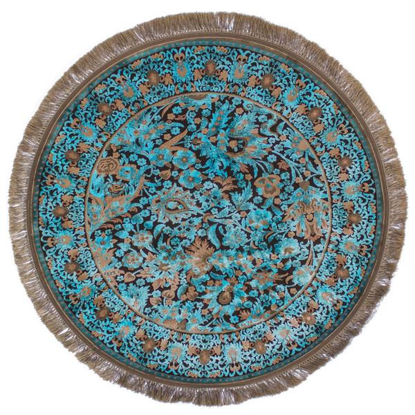 فرش ماشینی عرش طرح بهراد دایره زمینه آبی