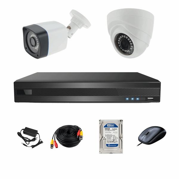 سیستم امنیتی ای اچ دی فوتون کاربری مسکونی و فروشگاهی 2 دوربین