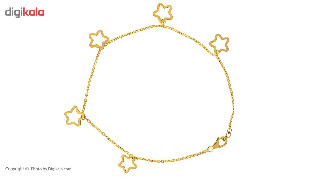 پابند طلا 18 عیار ماهک مدل MA0069 -  - 2