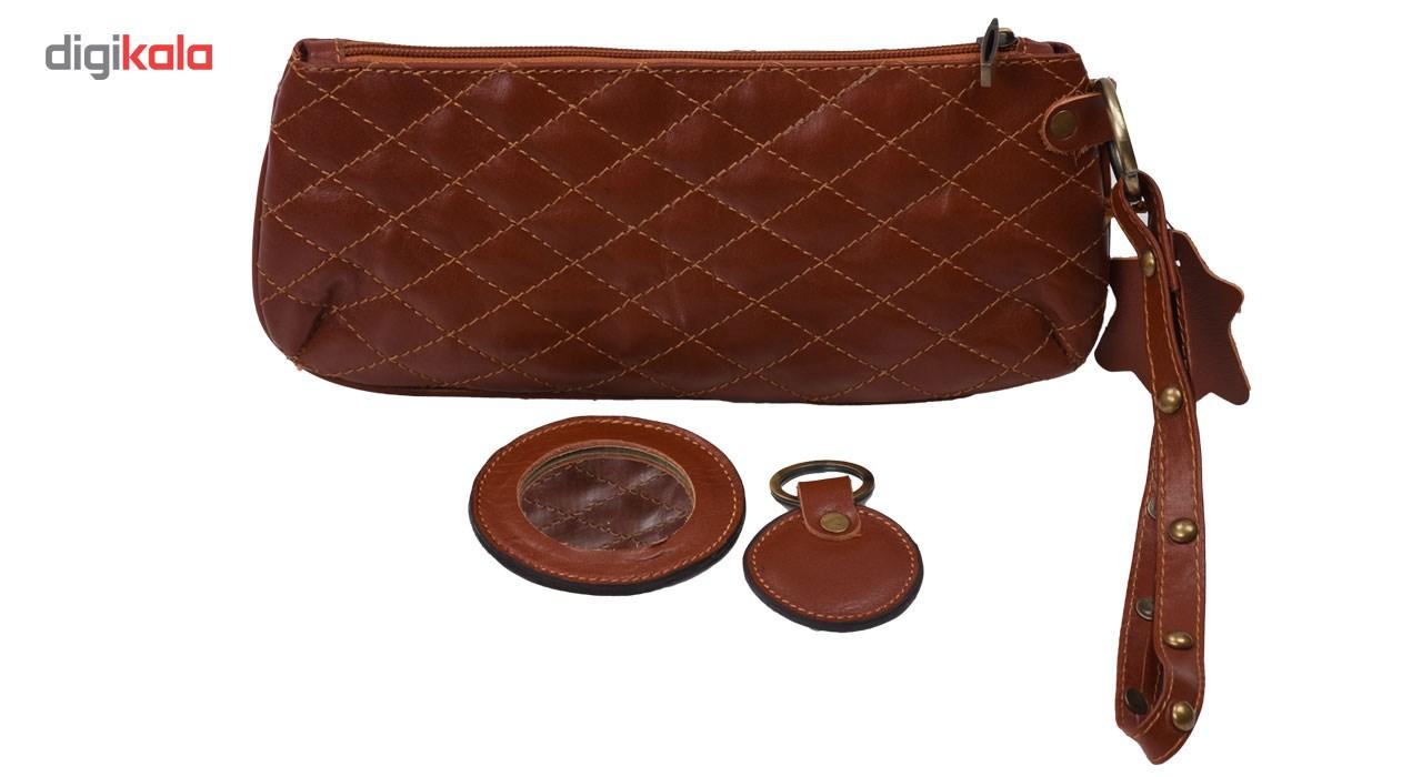 کیف لوازم آرایش کهن چرم مدل A3