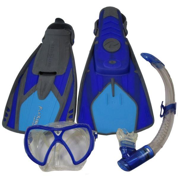 مجموعه اسنورکلینگ آکوالانگ مدل Flexar Travel Set L-XL