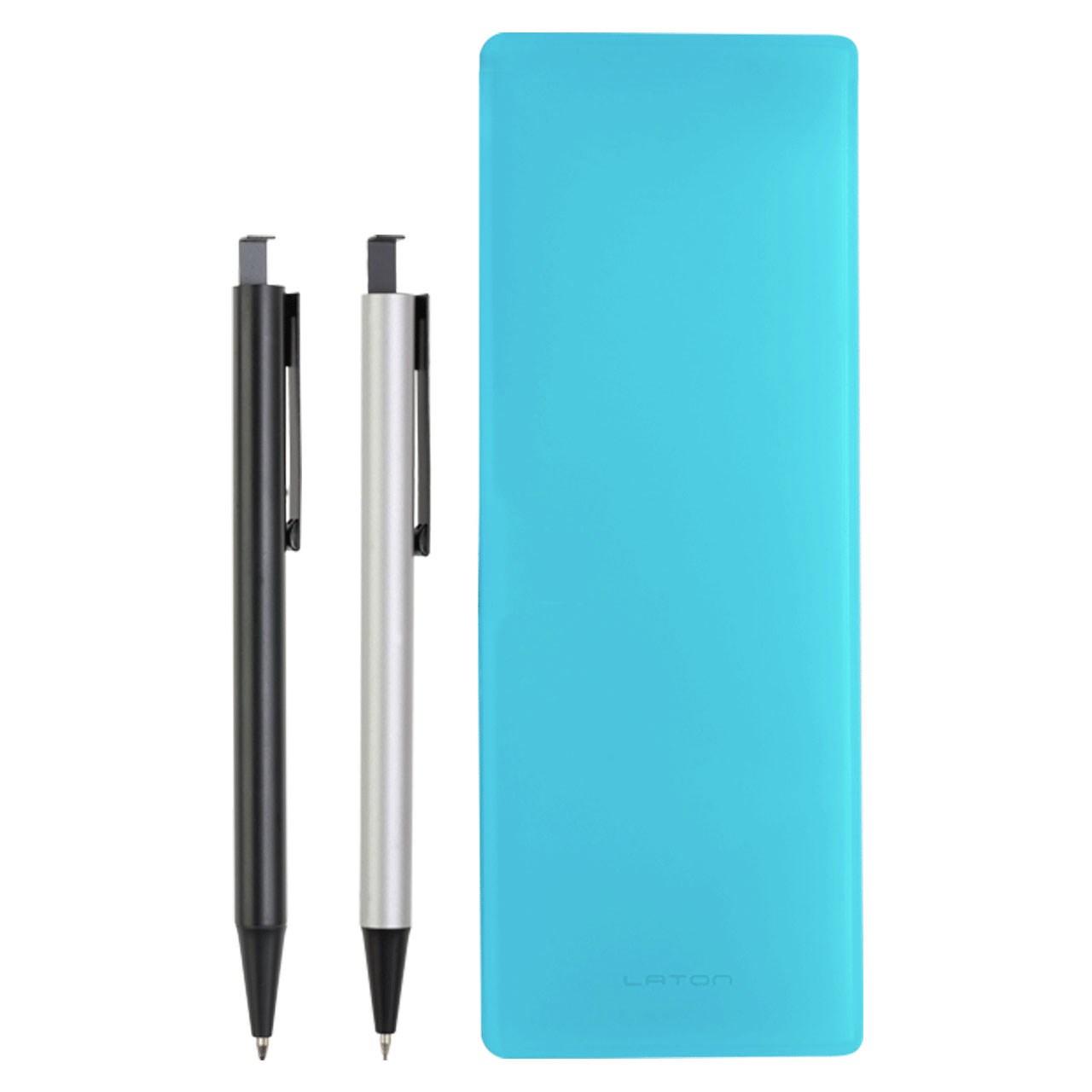 ست خودکار مدادنوکی و جامدادی لاتن مدل Ultra Blue