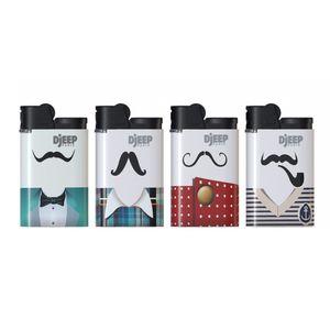 فندک دیجیپ مدل Mustaches بسته 4 عددی