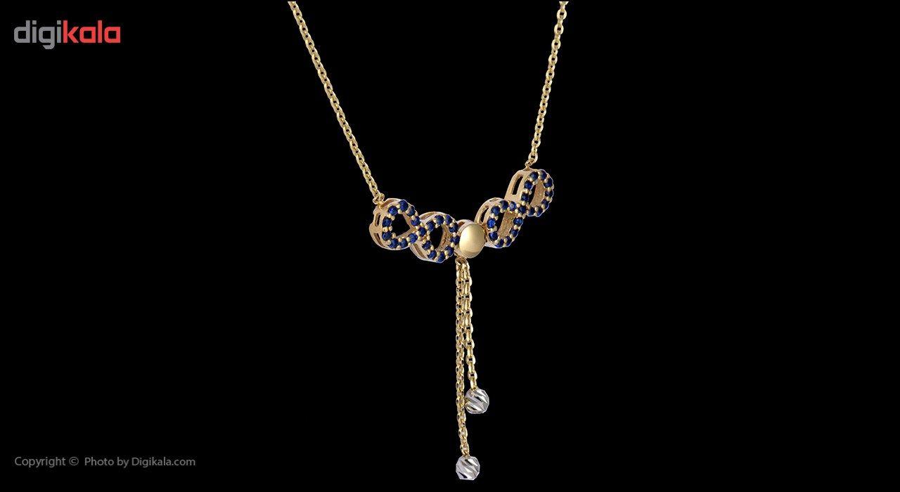 گردنبند طلا 18 عیار ماهک مدل MM0390 - مایا ماهک -  - 3