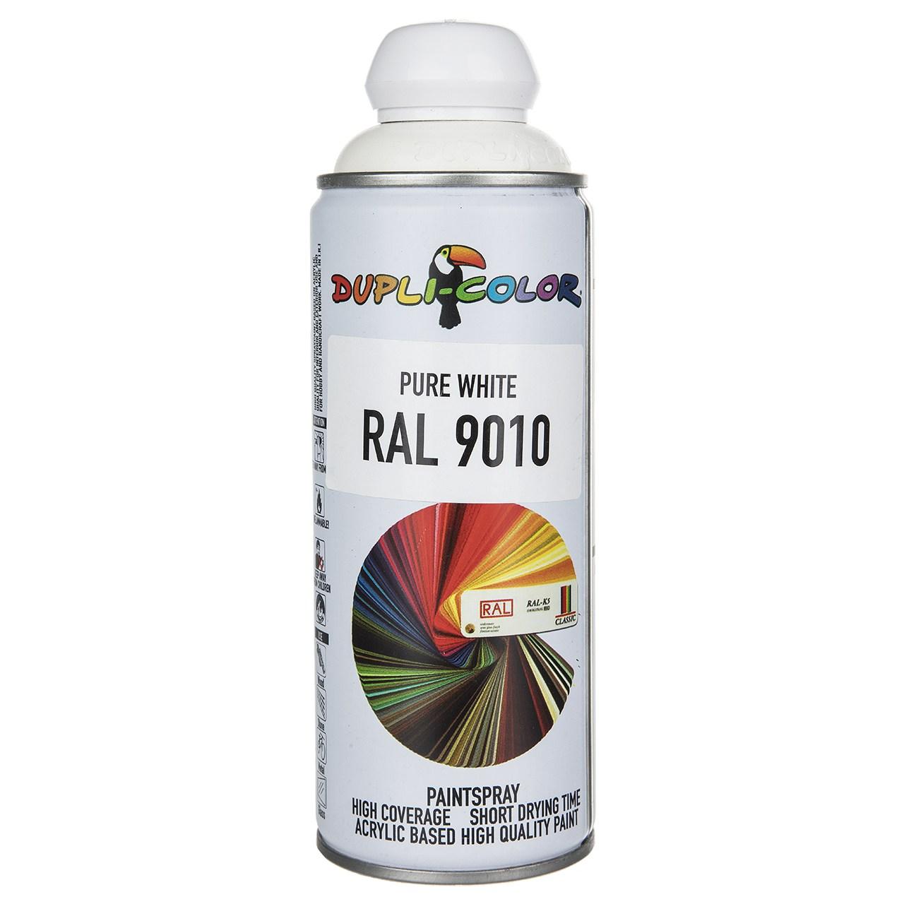 اسپری رنگ سفید دوپلی کالر مدل RAL 9010 حجم 400 میلی لیتر