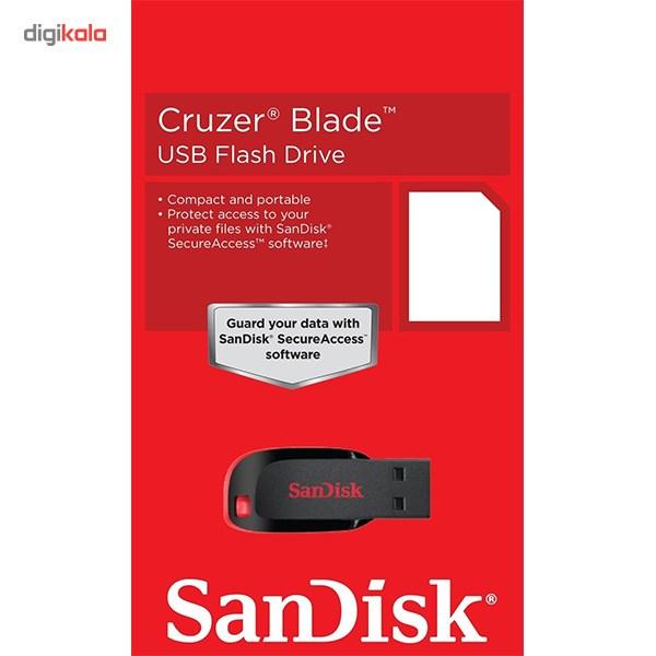 فلش مموری سن دیسک مدل Cruzer Blade CZ50 ظرفیت 16 گیگابایت