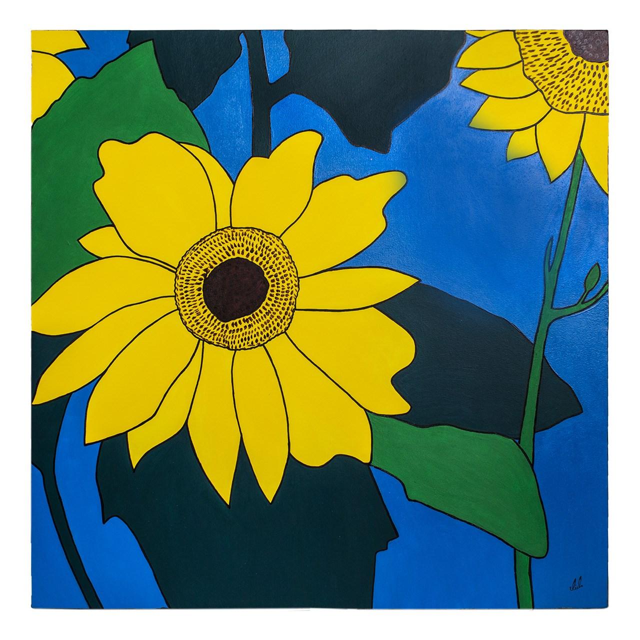 Photo of تابلو نقاشی گالری آیدو گل های پاییزی کد AB15-50