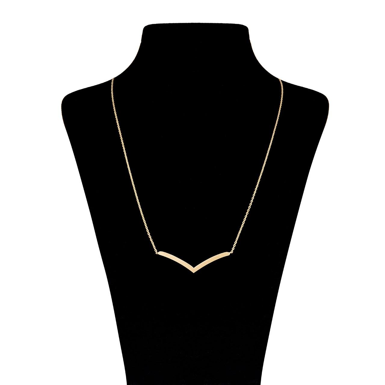 گردنبند طلا ۱۸ عیار زنانه ماهک مدل MM0404