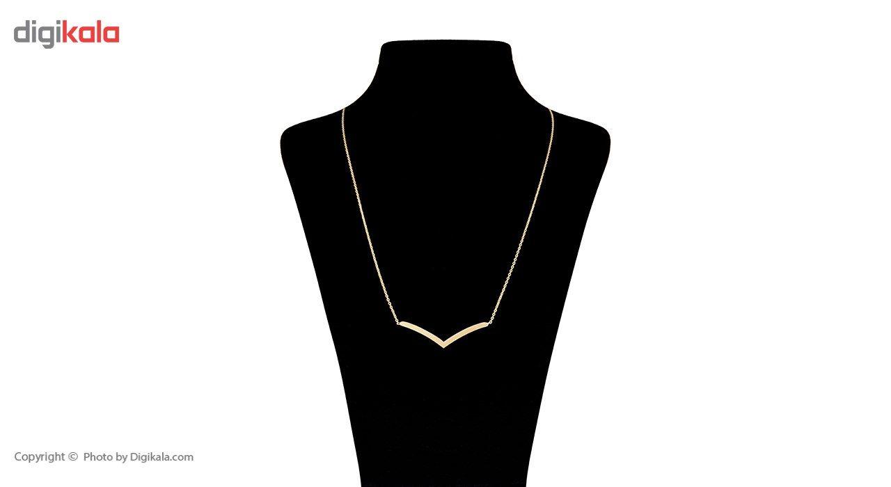 گردنبند طلا 18 عیار ماهک مدل MM0404 -  - 1