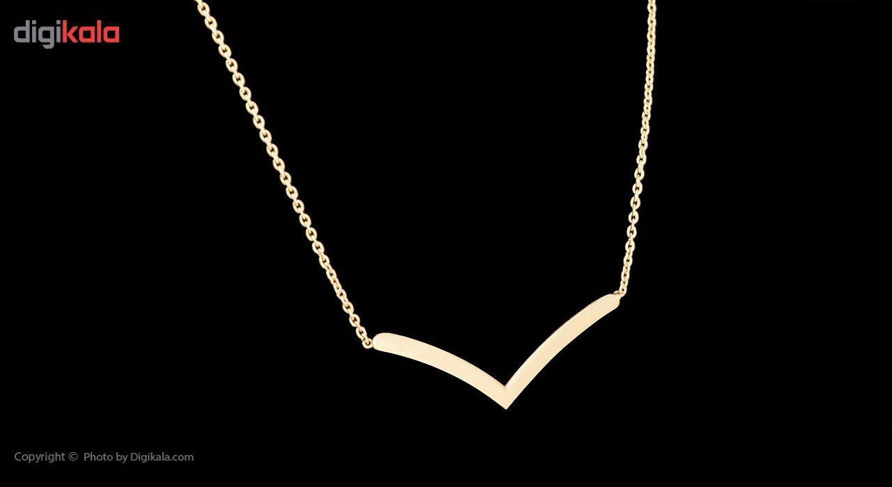 گردنبند طلا 18 عیار زنانه ماهک مدل MM0404 main 1 2