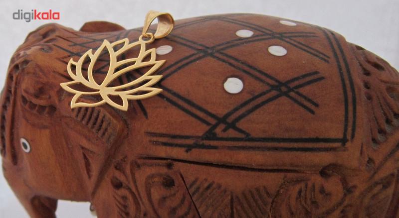 آویز گردنبند طلا 18 عیار شانا مدل N-SG36