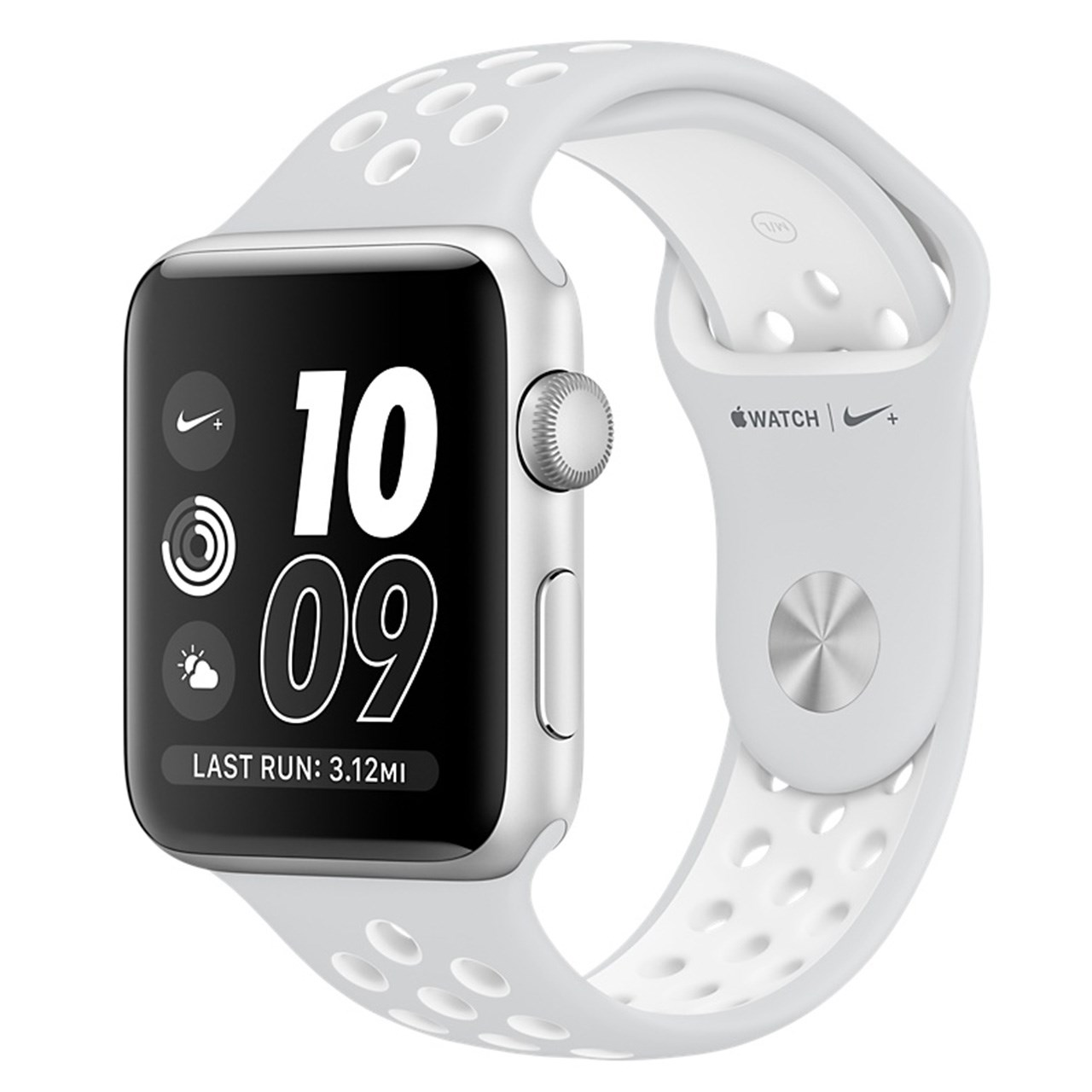 ساعت هوشمند اپل واچ سری 2 مدل Nike Plus 42mm Silver Aluminum Case with Pure Platinum/White Nike Sport Band