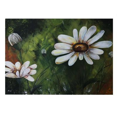 Photo of تابلو گالری خورشید طرح گل مینا بزرگ کد MA013