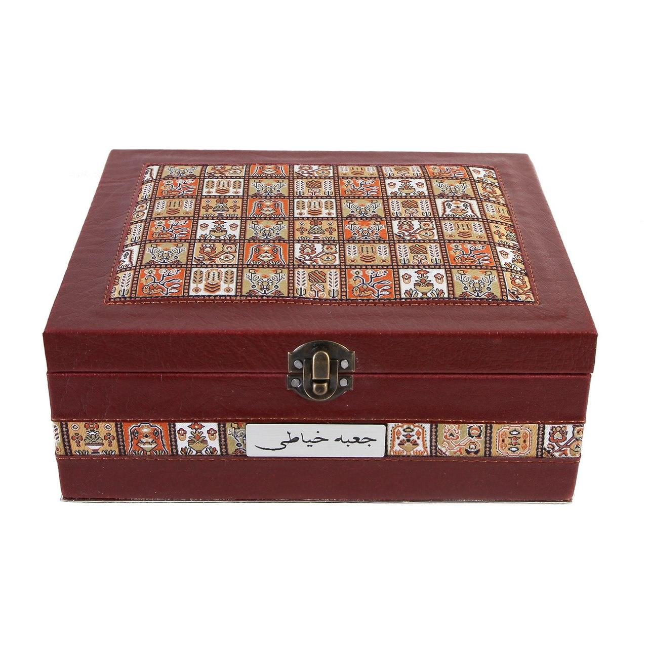جعبه خیاطی چرمی طهرانی کد 191012