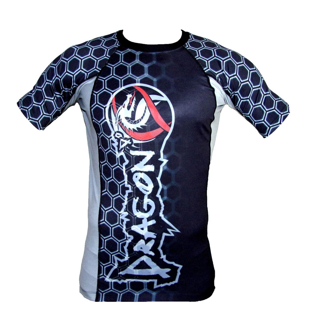 تی شرت آستین کوتاه ورزشی  مردانه دراگون دو مدل Rashguard Rg416