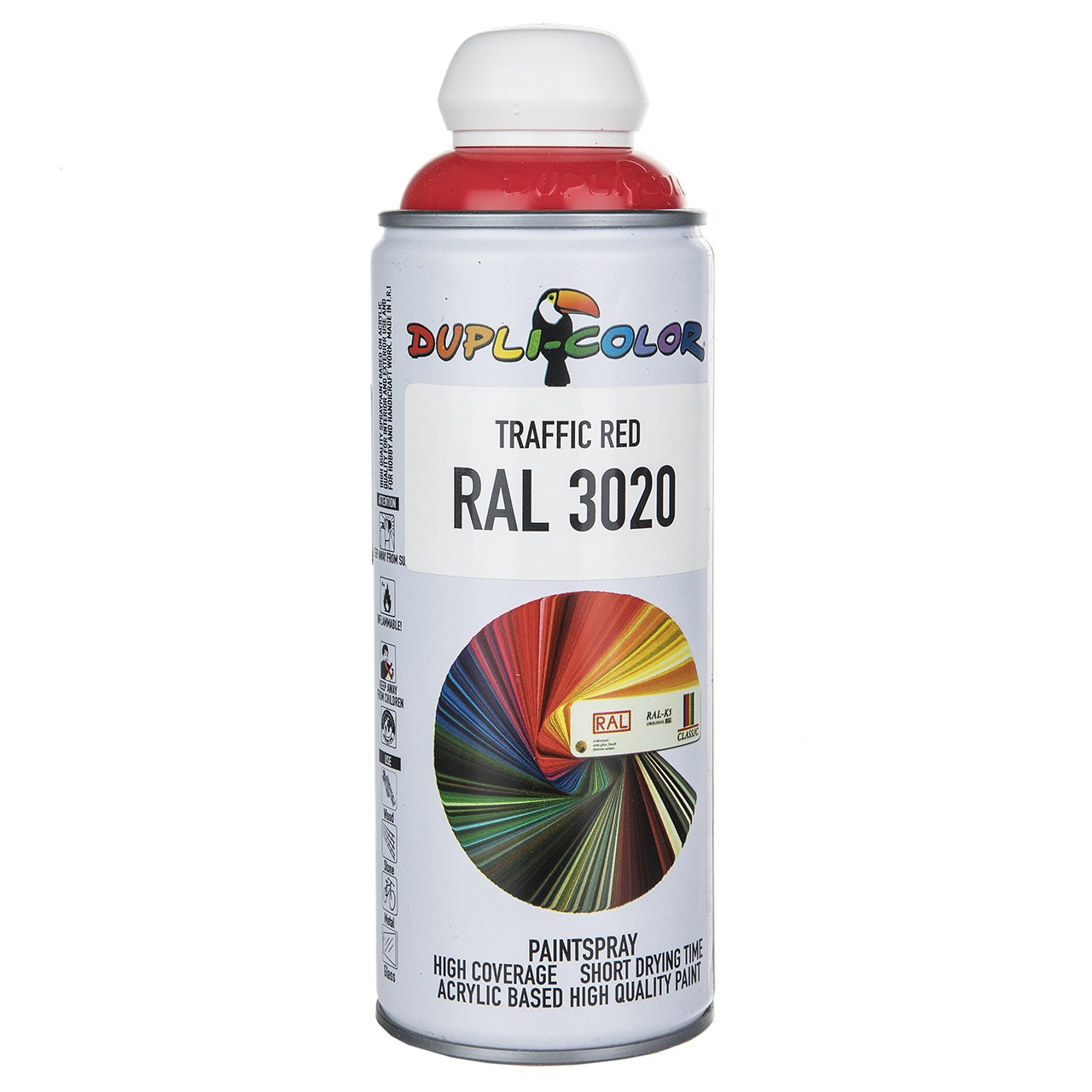 قیمت                                      اسپری رنگ قرمز دوپلی کالر مدل RAL 3020 حجم 400 میلی لیتر