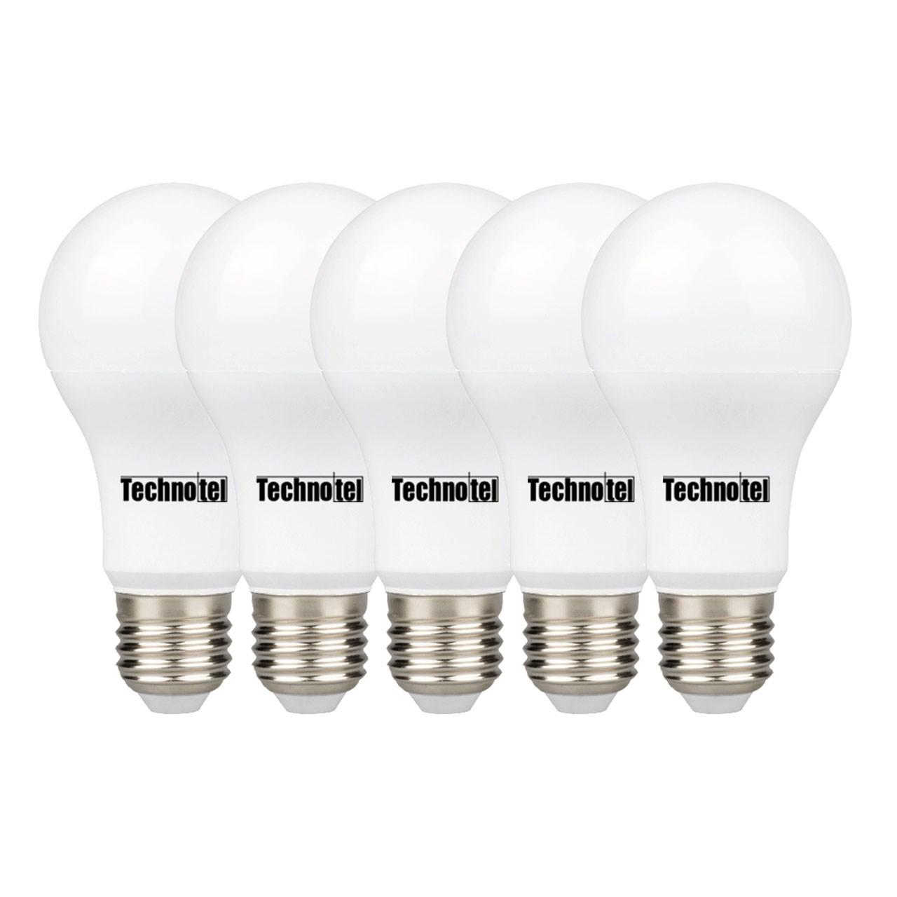 لامپ ال ای دی 15 وات تکنوتل مدل 315 پایه E27 بسته 5 عددی