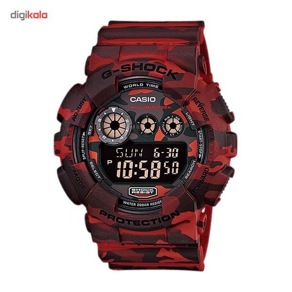 خرید ساعت مچی دیجیتالی مردانه کاسیو جی شاک GD-120CM-4DR | ساعت مچی