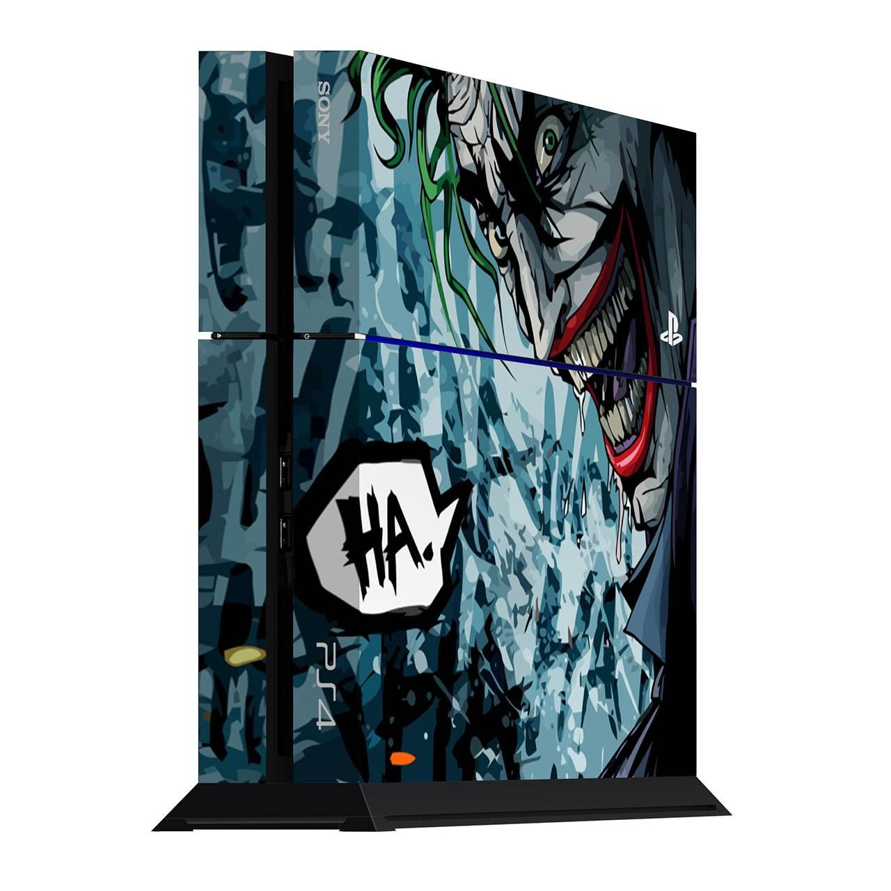 برچسب عمودی پلی استیشن 4 ونسونی طرح Comic Joker