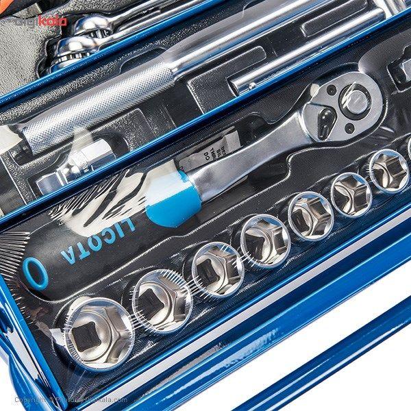 مجموعه 57 عددی جعبه ابزار لیکوتا مدل AHB-533K01 main 1 4