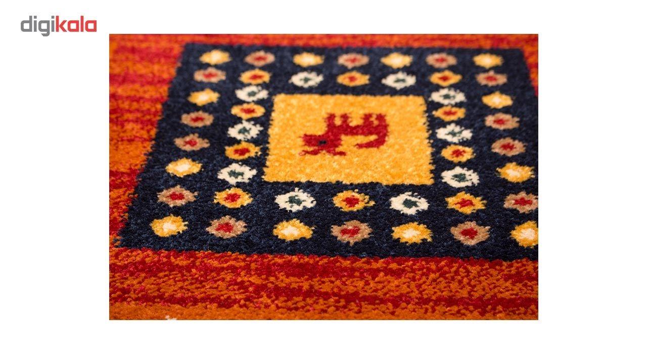 فرش ماشینی ساوین طرح مهر کد FSM51 زمینه قرمز main 1 3