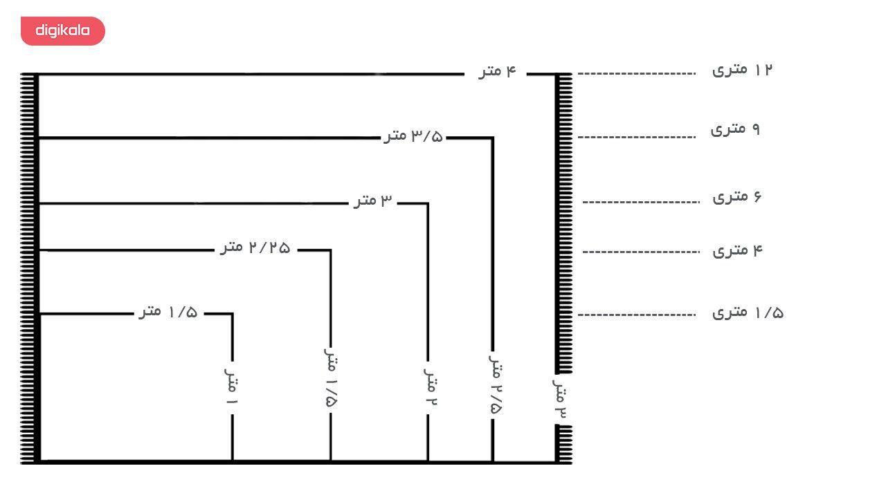 فرش ماشینی ساوین طرح مهر کد FSM51 زمینه قرمز main 1 5