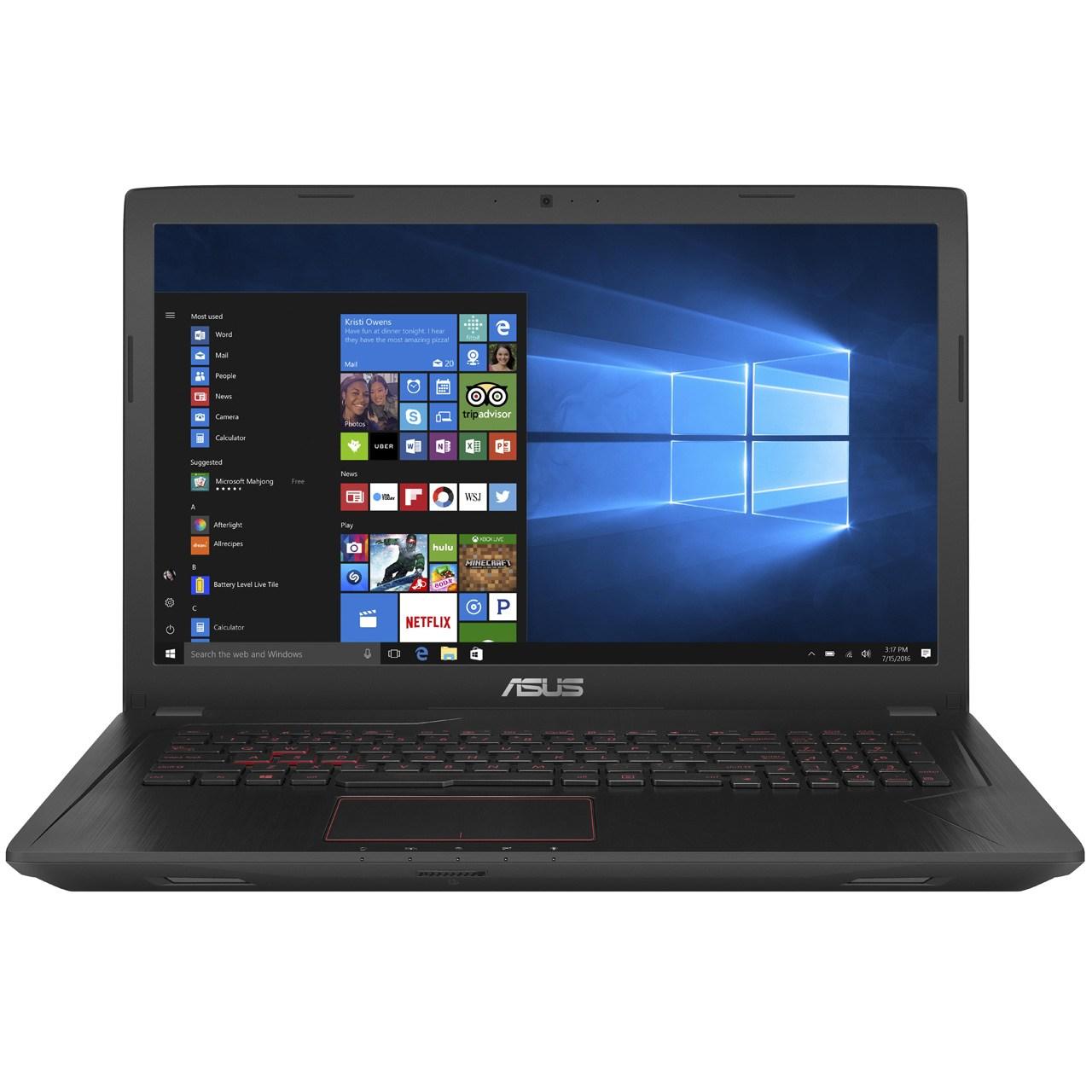 لپ تاپ 17 اینچی ایسوس مدل ASUS FX753VD - B
