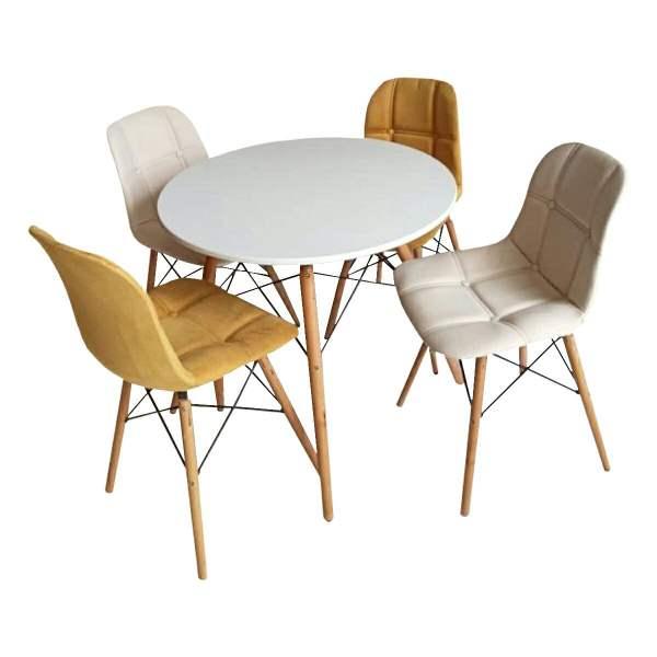 میز و صندلی ناهارخوری 4 نفره مدل D90