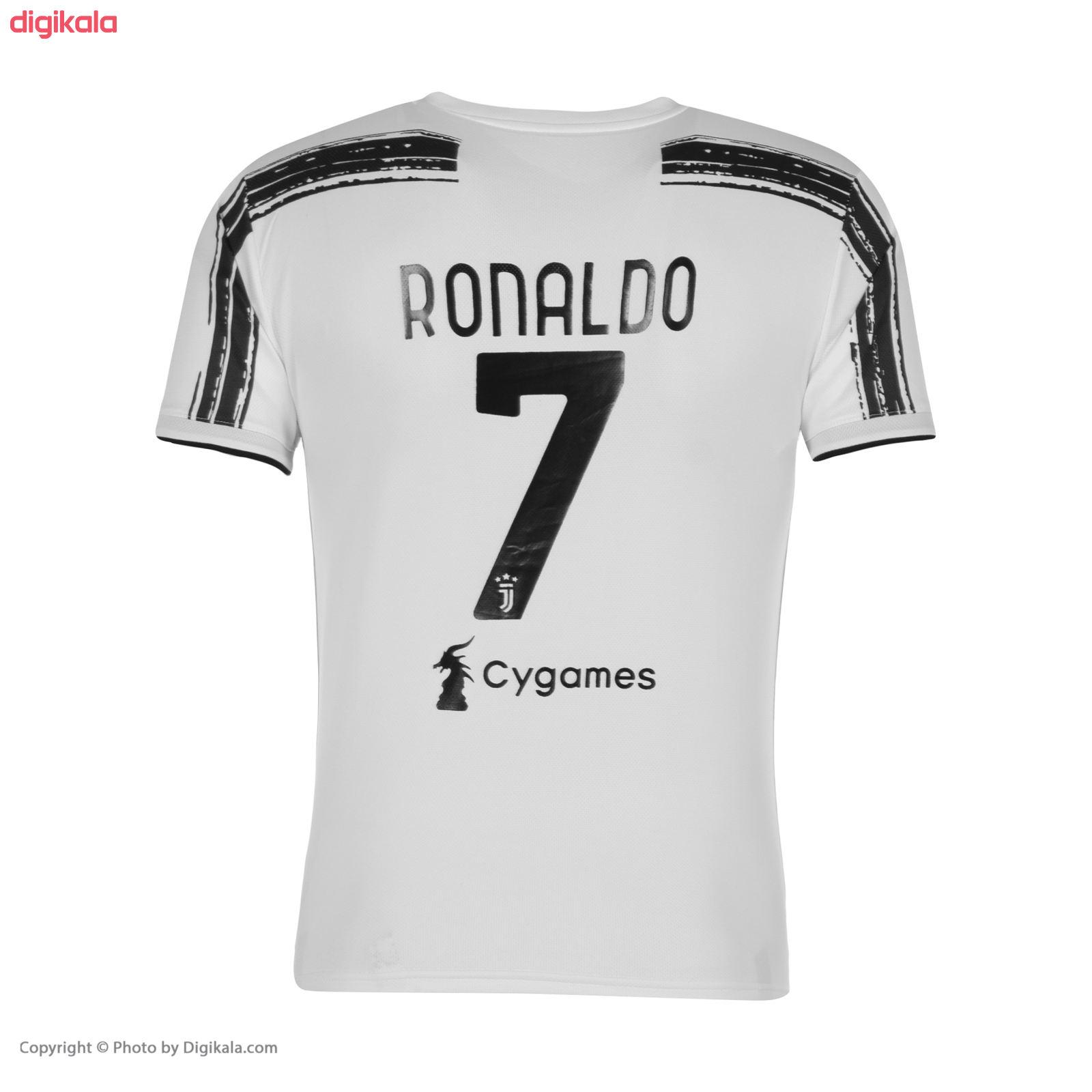ست پیراهن و شورت ورزشی پسرانه طرح تیم یوونتوس مدل رونالدو 2021 main 1 2