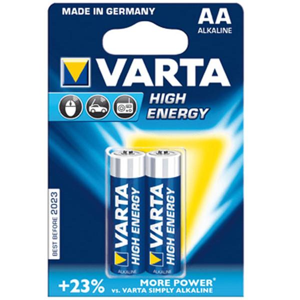 باتری قلمی وارتا مدل High Energy Alkaline LR6AA بسته 2 عددی