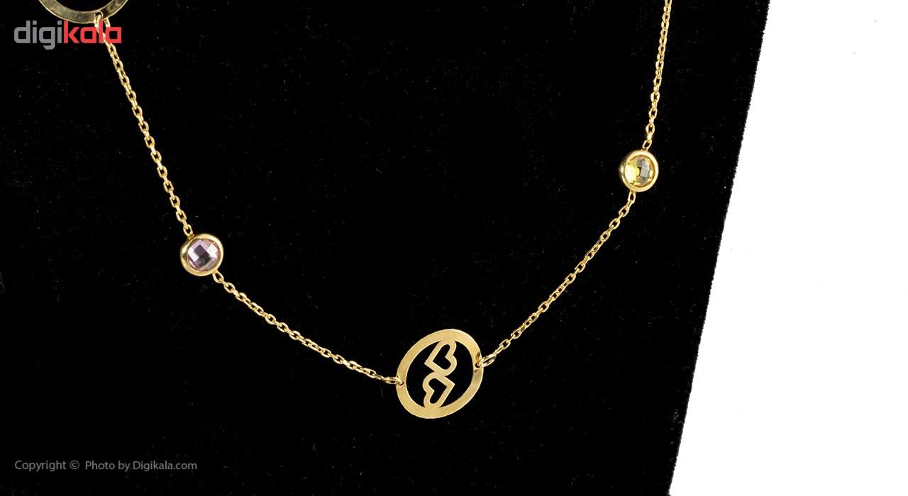 گردنبند طلا 18 عیار ماهک مدل MM0509