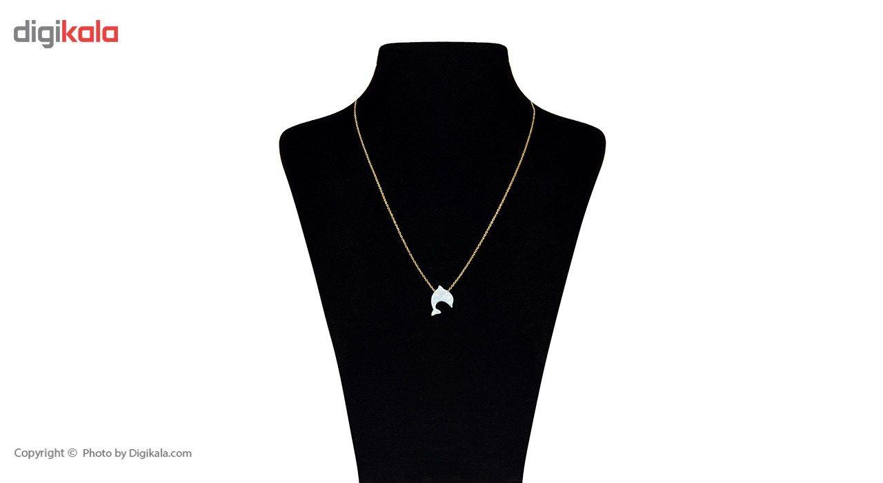 گردنبند طلا 18 عیار ماهک مدل MM0540 - مایا ماهک -  - 2