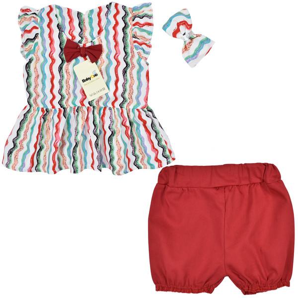 ست 3 تکه لباس نوزادی دخترانه بی بی وان مدل هاوایی کد 3