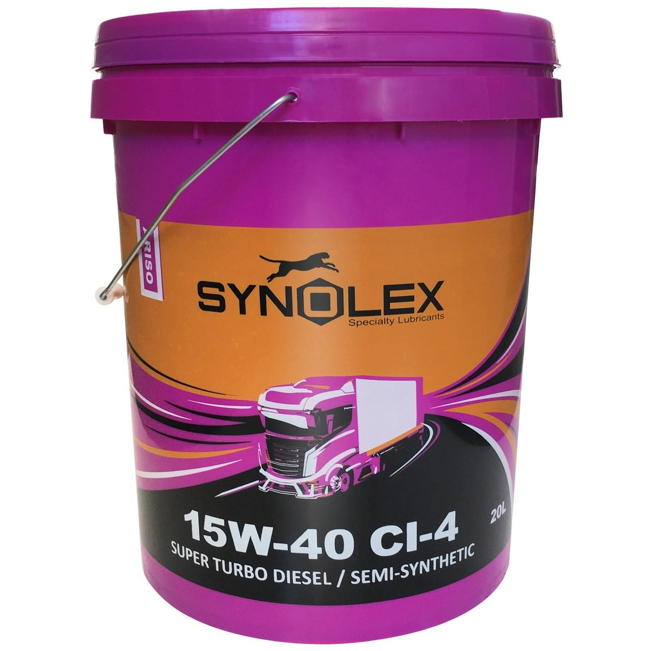 روغن موتور دیزلی سینولکس مدل آریسو 15W-40 CI-4 ظرفیت 20 لیتر