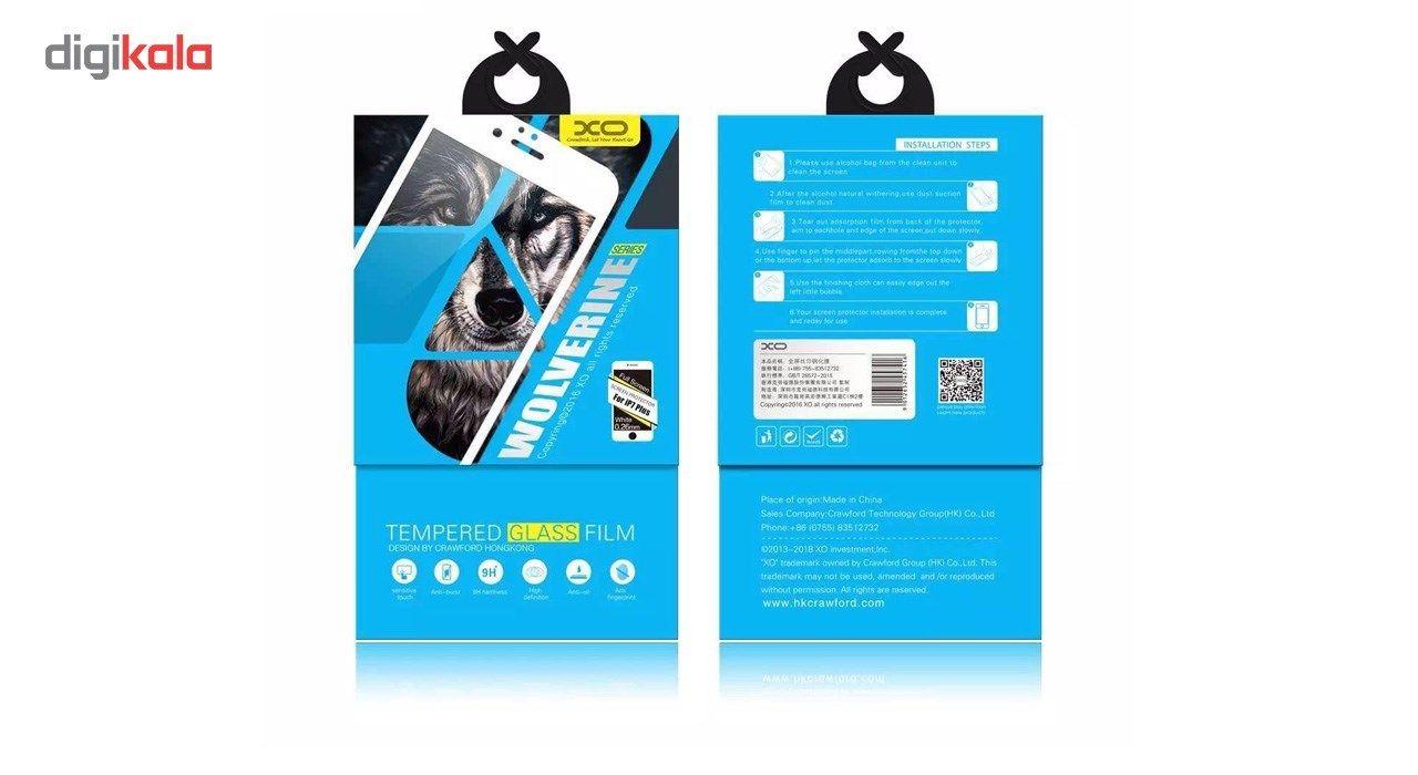 محافظ صفحه نمایش شیشه ای مدل 5D Tempered مناسب برای گوشی موبایل آیفون 6/6s Plus main 1 1