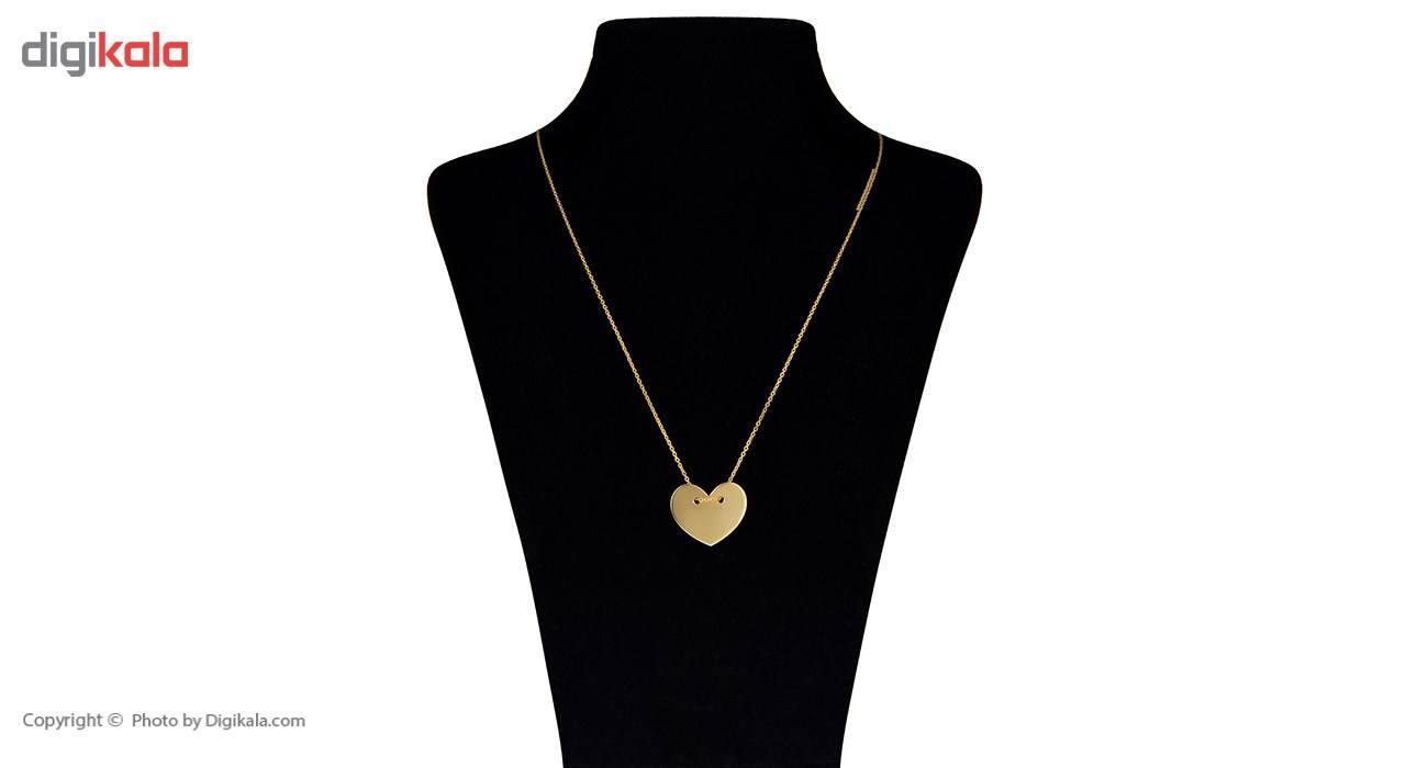 گردنبند طلا 18 عیار ماهک مدل MM0370 -  - 1