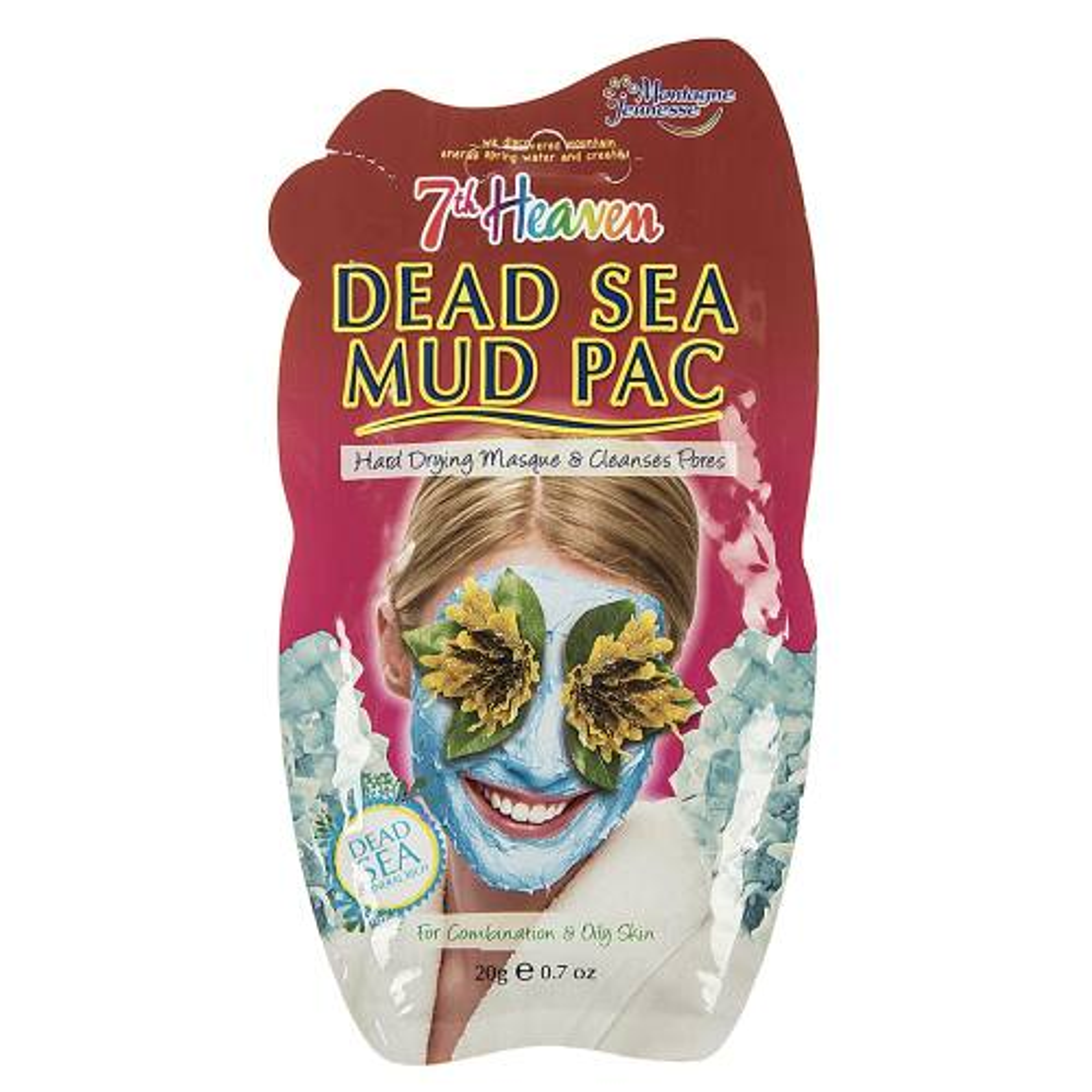 ماسک صورت مونته ژنه سری 7th Heaven مدل Dead Sea حجم 20 میلی لیتر