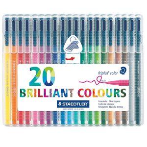 ماژیک 20 رنگ استدلر مدل Triplus Brilliant Colours