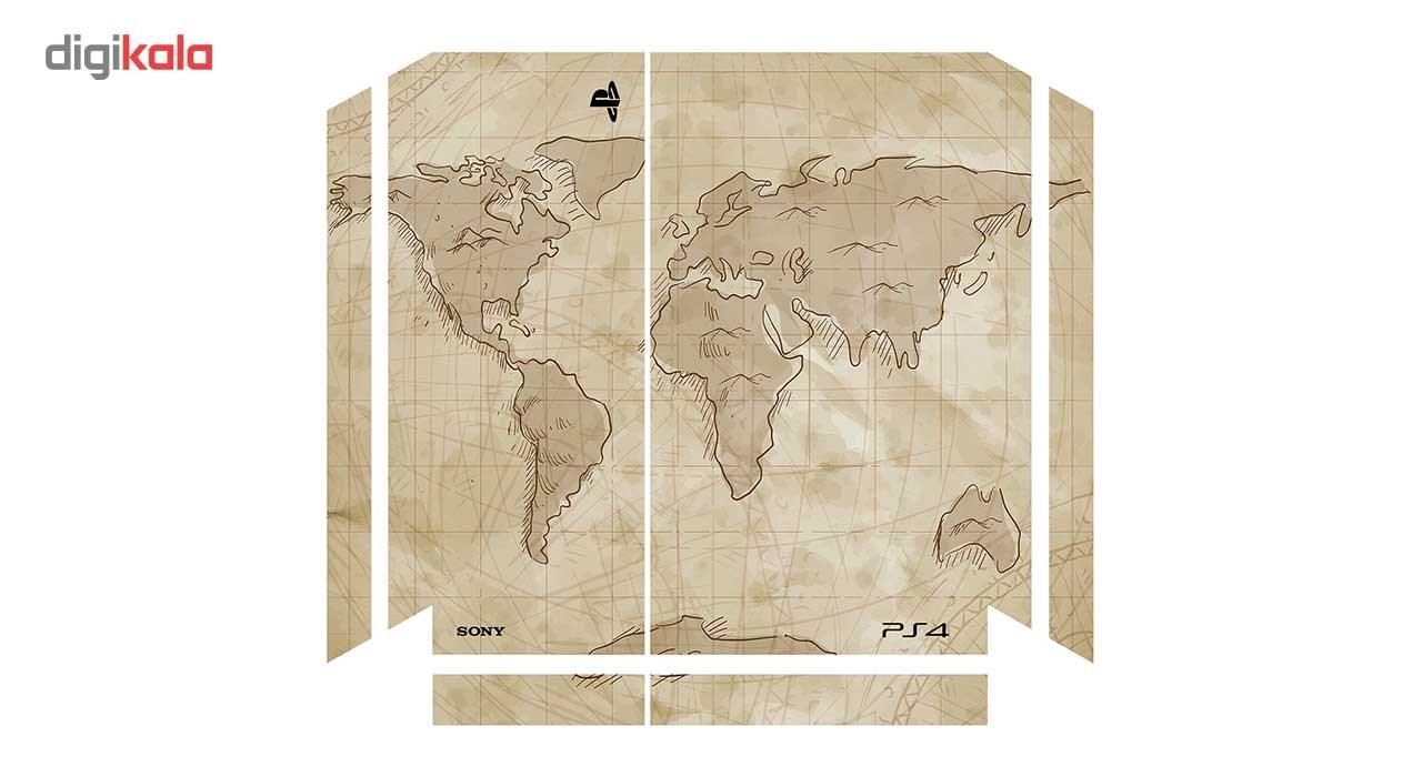 برچسب افقی پلی استیشن 4 ونسونی طرح Ancient World Map