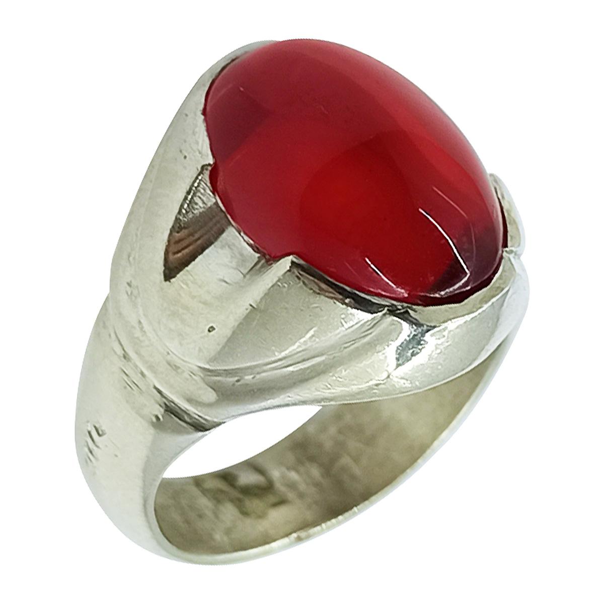 انگشتر نقره مردانه سلین کالا مدل یاقوت سرخ کد ce-As12