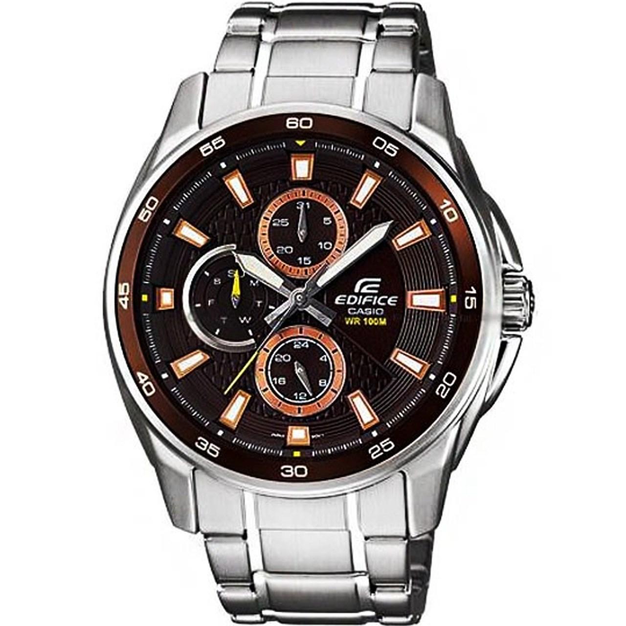خرید ساعت مچی عقربه ای مردانه کاسیو مدل EF-334D-5AVUDF