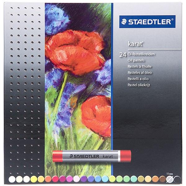 پاستل روغنی 24 رنگ استدلر مدل Karat