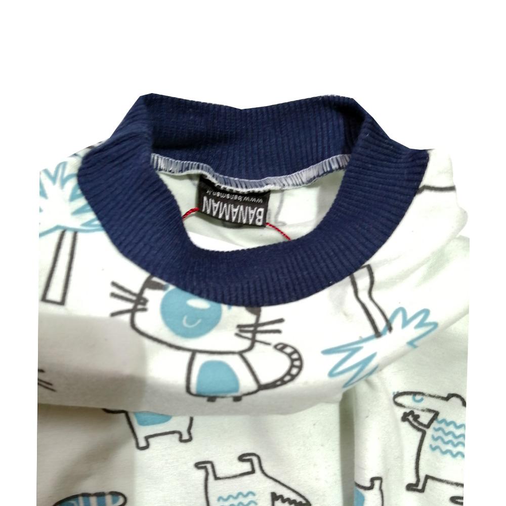 ست تی شرت و شلوار بچگانه بانامان مدل c961