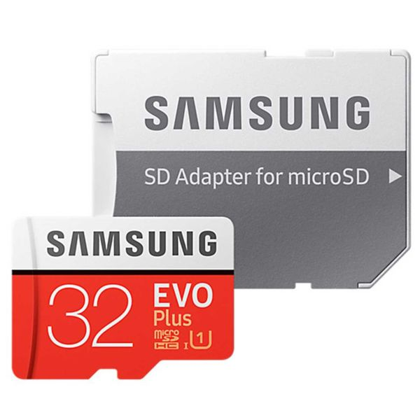 کارت حافظه microSDHC سامسونگ مدل Evo Plus کلاس 10 استاندارد UHS-I U1 سرعت 95MBps همراه با آداپتور SD ظرفیت 32 گیگابایت