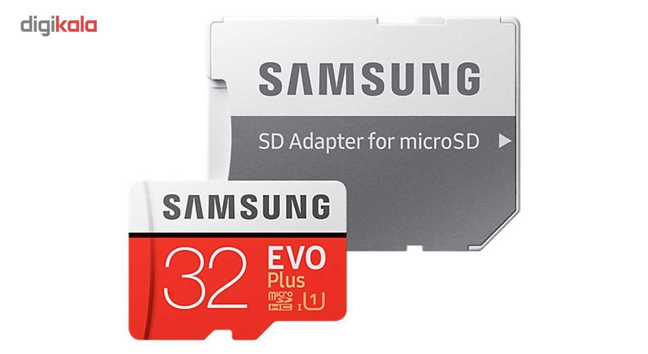 کارت حافظه microSDHC سامسونگ مدل Evo Plus کلاس 10 استاندارد UHS-I U1 سرعت 95MBps همراه با آداپتور SD ظرفیت 32 گیگابایت main 1 1